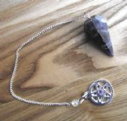 Amethyst Faceted Dowser Pendulum with Pentagram